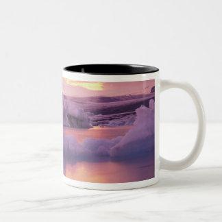 Europe, Iceland, Jokulsarlon lagoon Two-Tone Coffee Mug