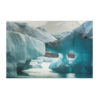Europe, Iceland, JokUSArlon. Iceberg Formations Canvas Print