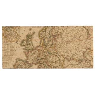 Europe in 1813 2 wood USB 2.0 flash drive