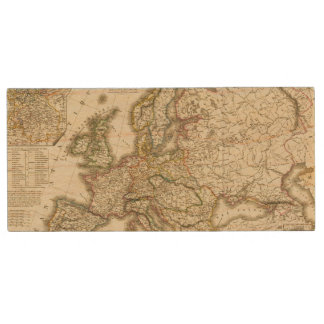 Europe in 1813 2 wood USB flash drive