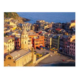 Europe, Italy, Cinque Terre. Village of Vernazza Postcard