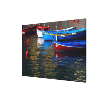 Europe, Italy, Cinque Terry, boats in Vernazza Canvas Print