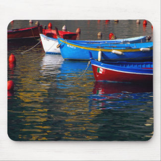Europe, Italy, Cinque Terry, boats in Vernazza Mouse Pad