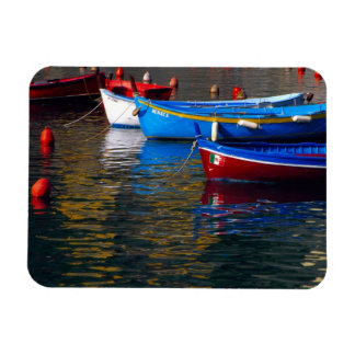 Europe, Italy, Cinque Terry, boats in Vernazza Rectangular Photo Magnet