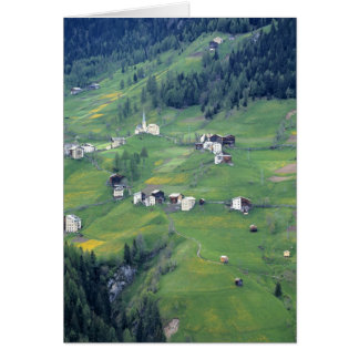 Europe, Italy, Dolomite Alps. This tiny village Card