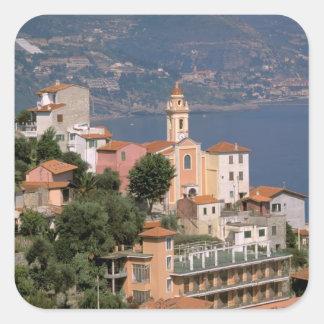 Europe, Italy, Liguria, La Mortola, Riviera di Square Sticker
