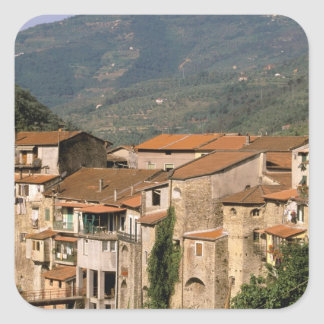 Europe, Italy, Liguria, Riviera di Ponente, Square Sticker