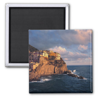 Europe, Italy, Manarola. The cliff-nestled Square Magnet