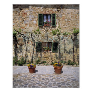 Europe, Italy, Monteriggioni. A stone house is Poster
