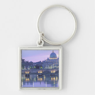 Europe, Italy, Rome, The Vatican. St. Peter's & Silver-Colored Square Keychain