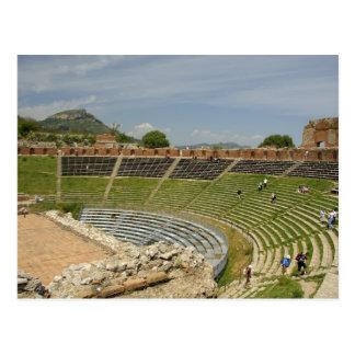 Europe, Italy, Sicily, Taormina. 3rd century 2 Postcard