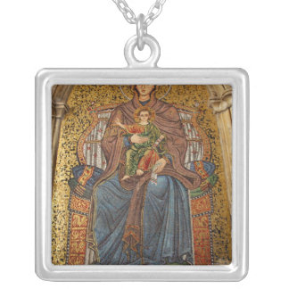 Europe, Italy, Sicily, Taormina. Madonna & child Silver Plated Necklace