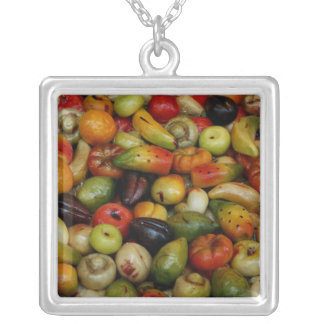 Europe, Italy, Sicily, Taormina. Traditional 3 Silver Plated Necklace