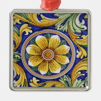 Europe, Italy, Sicily, Taormina. Traditional 4 Metal Ornament