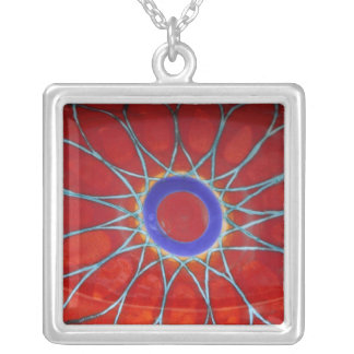 Europe, Italy, Sicily, Taormina. Traditional 6 Silver Plated Necklace