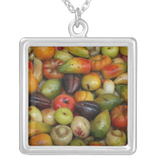 Europe, Italy, Sicily, Taormina. Traditional Silver Plated Necklace