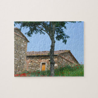 Europe, Italy, Tuscany, abandoned villa in Puzzle
