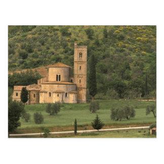 Europe, Italy, Tuscany. Abbazia di Sant'Antimo, Postcard
