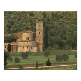 Europe, Italy, Tuscany. Abbazia di Sant'Antimo, Poster