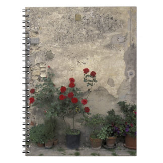 Europe, Italy, Tuscany, Chianti, Tuscan doorway; Spiral Note Book
