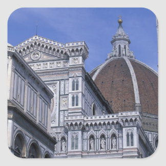Europe, Italy, Tuscany, Florence. Piazza del 2 Square Sticker