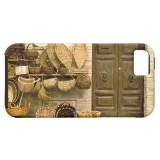 Europe, Italy, Tuscany, Montalcino. Basket iPhone 5 Case