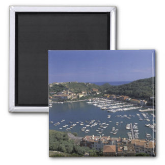 Europe, Italy, Tuscany, Porto Ercole, View of Square Magnet