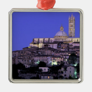 Europe, Italy, Tuscany, Siena. 13th C. Duomo and Silver-Colored Square Ornament