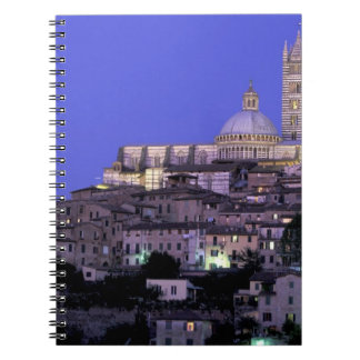 Europe, Italy, Tuscany, Siena. 13th C. Duomo and Spiral Notebook