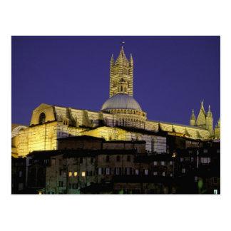 Europe, Italy, Tuscany, Siena. 13th century Postcard