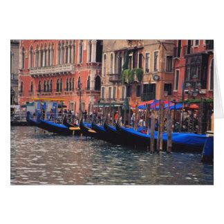 Europe, Italy, Venice, gondolas in canal Card