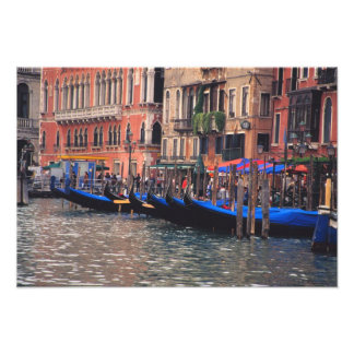 Europe, Italy, Venice, gondolas in canal Photograph