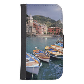 Europe, Italy, Vernazza. Brightly painted boats Phone Wallet