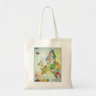 Europe map basic tote bag