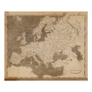 Europe Map by Arrowsmith Poster