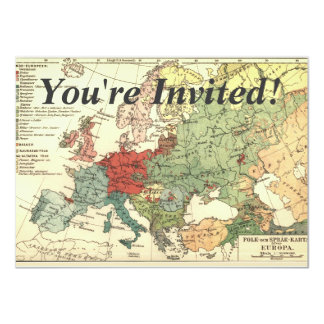 Europe Map Countries World Vintage Card