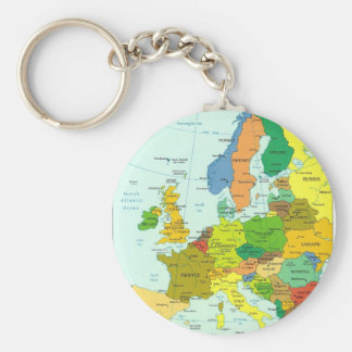Europe map keychain