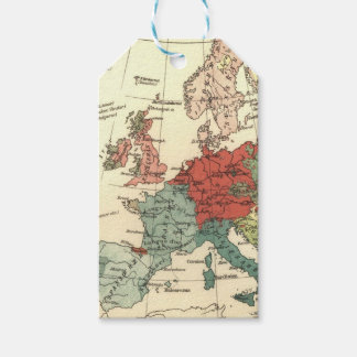 Europe Map Vintage Travel Gift Tags