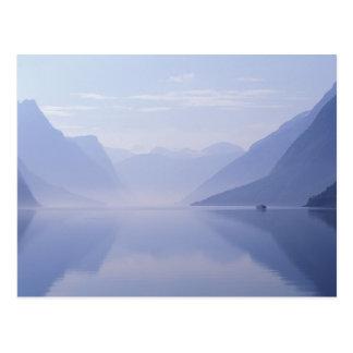 Europe, Norway. Vertical walls reflected in Postcard