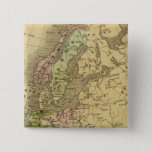 Europe Olney Map 2 Inch Square Button