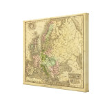 Europe Olney Map Canvas Print