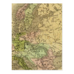 Europe Olney Map Postcard