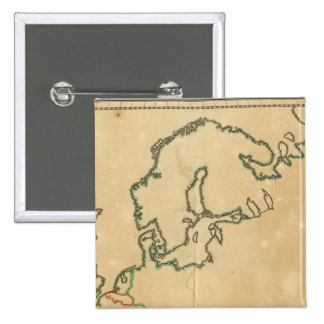 Europe Outline 2 Inch Square Button