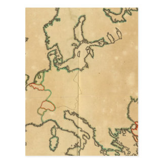 Europe Outline Postcard