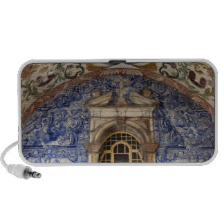 Europe, Portugal, Obidos. Colorful architectural Notebook Speakers