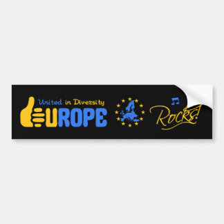 Europe Rocks! bumpersticker Bumper Sticker