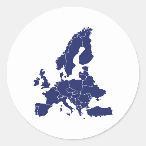 Europe Round Sticker