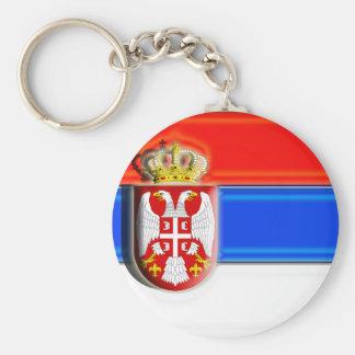Europe: Serbia (artist flag) Keychain