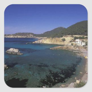 Europe, Spain, Balearics, Ibiza, Cala de Square Sticker
