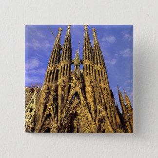 Europe, Spain, Barcelona, Sagrada Familia 2 Inch Square Button